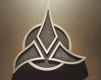 Star Trek Klingon Empire logo plaque