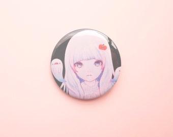 Ghost Girl Pumpkin badge