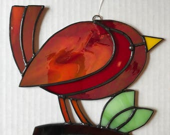 Little Red Bird Sun Catcher