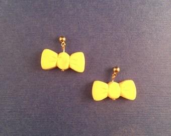 Small Dangle Bow Sparklite Earrings