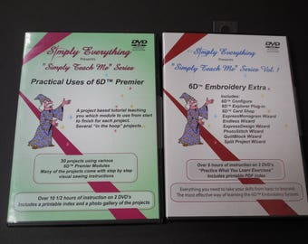 Simply Everything Simply Teach Me Series: 6D Embroidery DVD Tutorials