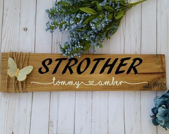 Personalized name sign, wedding decorations rustic, wooden sign personalized, estalished sign, custom signs, last name sign