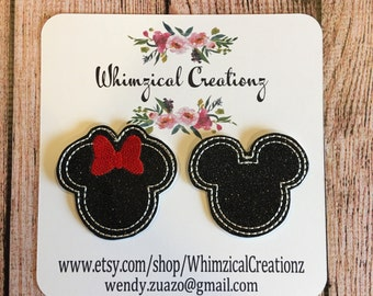 Mr. and Mrs. Mouse Shoe Clips
