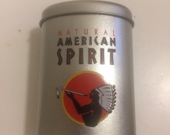 American Spirit Cigarettes Tin Cigarette Container