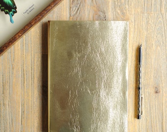 Sumptious Real Leather Metallic Notebook