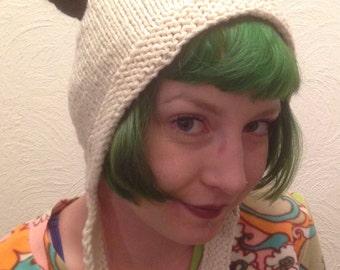 Hand knitted Panda Hat