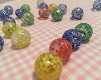 Vintage Painted Glass Marbles Vintage Speckled Marbles Vintage painted marbles vintage painted speckle marbles