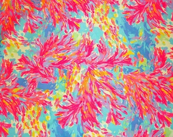 PALM BEACH CORAL 18x18 inches or 1 yard Lilly  fabric