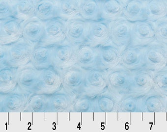 Rose Cuddle in Baby Blue by Shannon Fabrics REMNANTS