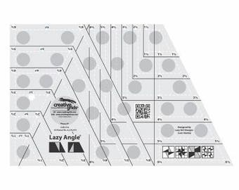 CREATIVE GRIDS Lazy Angle Ruler+ FREE Pattern