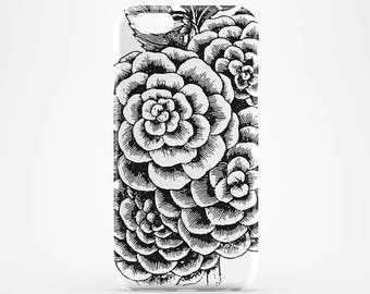 Roses Phone Case Transparent iPhone 7 Flower iPhone 6 Case Clear iPhone 7 Plus Case iPhone SE Case iPhone 6 Plus iPhone 5 Case iPhone 4 Rose