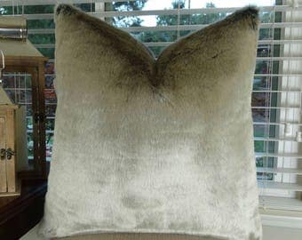 tissavel silver gray faux fur throw pillow cover silver fur throw pillow silverish gray