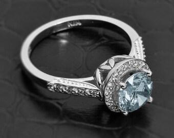 aquamarine ring gold, aquamarine engagement ring, march birthstone ring, blue stone ring, aquamarine jewelry,aquamarine stone,march birthday
