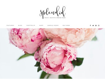WordPress Theme / Feminine, Minamalist / Responsive / Portfolio, Ecommerce Shop, Blog, Website / Genesis Framework / Photographer, Blogger