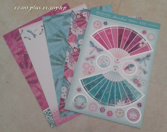 Hunkydory Kit - Dragonfly Dance - Oriental Blossoms