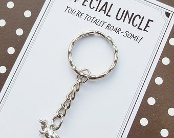 Special Uncle Dinosaur Keyring gift