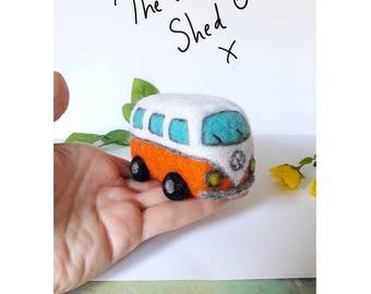 PDF pattern Needle Felt Camper Van kit - beginner/ intermediate - The Wishing Shed  craft car vw sewing
