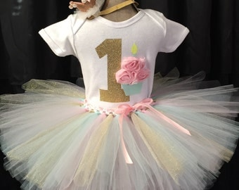 Girls first birthday outfit, smash cake outfit, first birthday tutu, girls birthday outfit, girls 1st birthday, first birthday shirt