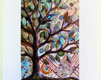 Fine Art Greeting Card: Tree of Life