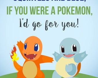 Pokemon Valentine // INSTANT DOWNLOAD PRINTABLE