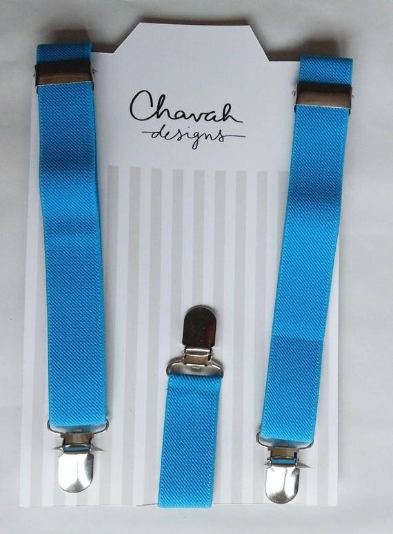 SALE - Cobalt Blue Boys suspenders