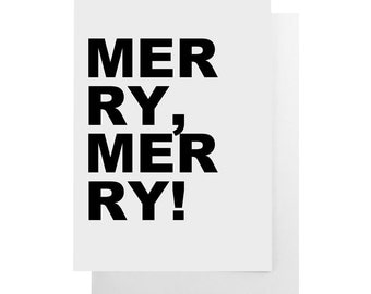 merry merry note card