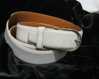 Christian Dior Vintage Belt, White Designer Belt