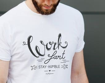 Men graphic tee with fun hand lettering