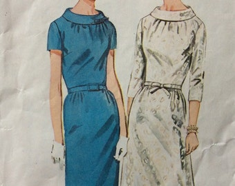 Simplicity 6799 vintage 1960's misses dress sewing pattern size 14 bust 34