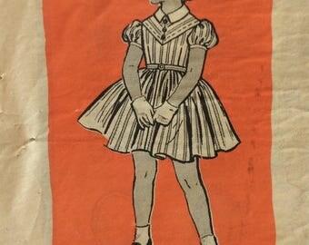 Mail order 9194 girls dress size 4 vintage 1950's sewing pattern