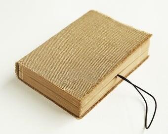 rustic burlap journal, burlap diary, jute book, jute journal, burlap book, rustic journal, kraft sketchbook, kraft sketch book