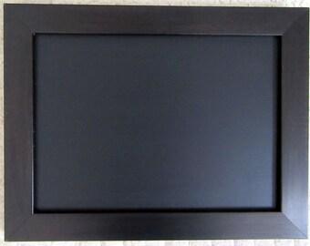 Small Black & Brown Effect Framed Chalkboard / Blackboard / Wedding / Kitchen Notice Board