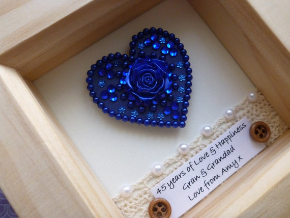 Gifts For 45th Wedding Anniversary: 45th Wedding Anniversary Gift, 45th Anniversary Gift