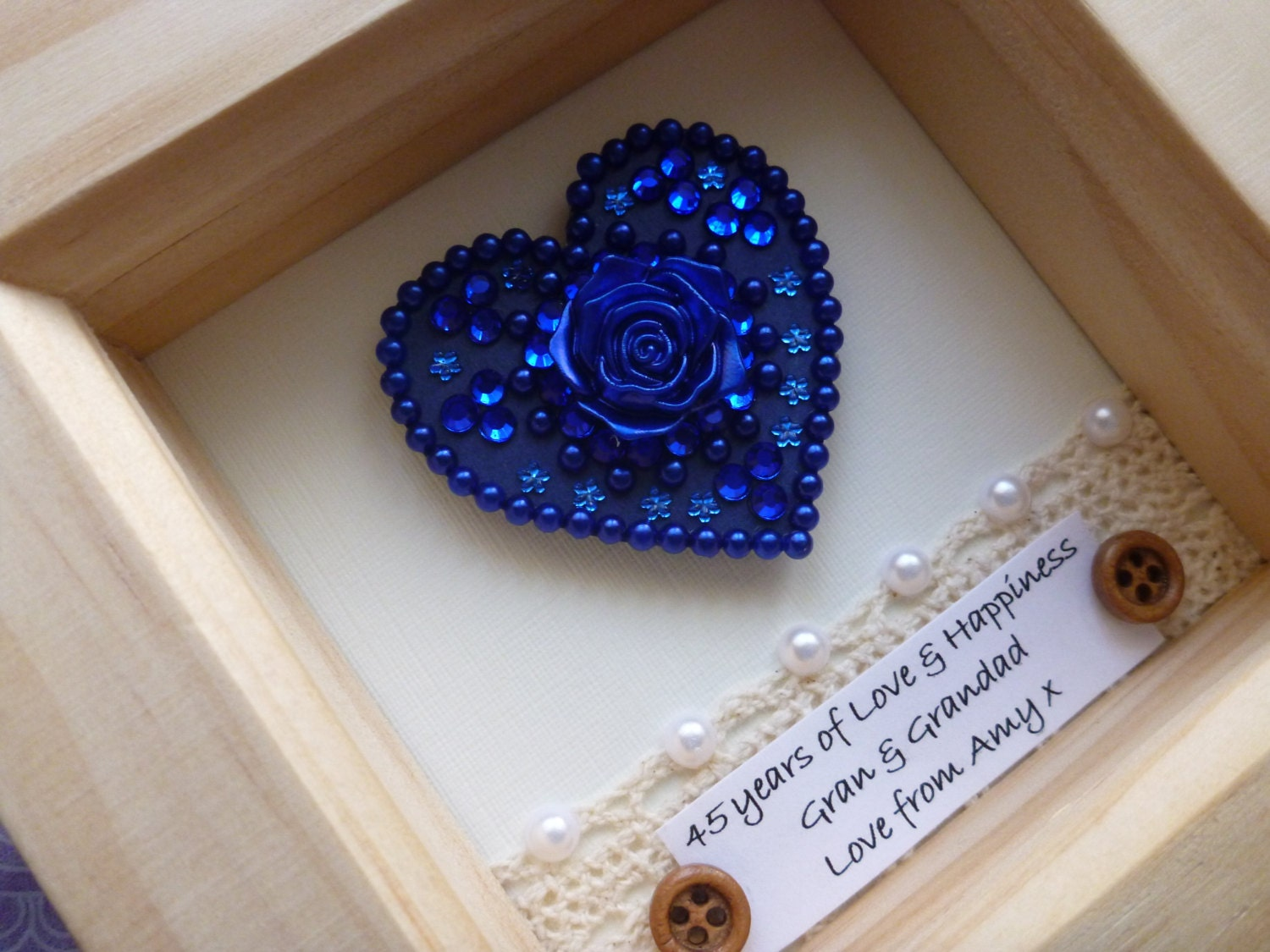 Gifts For 45th Wedding Anniversary: 45th Wedding Anniversary Gift 45th Anniversary Gift Sapphire