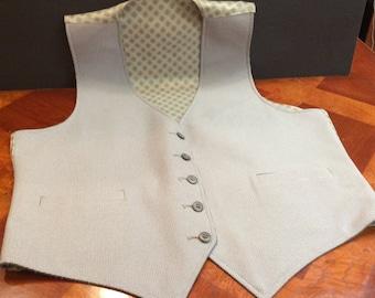 Men's Reversible Vest with Patterned Back