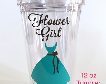 Personalized Flower Girl Tumbler -Will You Be My Flower Girl, Flower Girl Gift - 12oz Tumbler