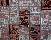 Hieroglyphic barkcloth fa...