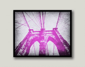 Brooklyn Bridge, Brooklyn Printable, Brooklyn Printable Art, Brooklyn Wall Art, NYC Wall Art, New York City, Printable Art, Instant Download