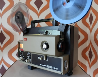 Elmo ST180 vintage Retro Super 8, 8mm sound movie cine reel film projector 80s twin track star wars