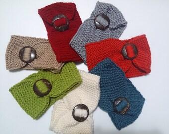 knit headband, headband winter knit, knit bow headband, gift for girlfriend, knit headbands, hand knit headband, knit chunky headband,
