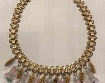 Art Deco Necklace Venetian Bead Dangles