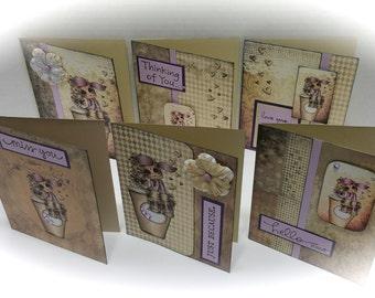 Cafe Mocha Coffee Blank Note Cards (Set of 6) - Item# SBC001