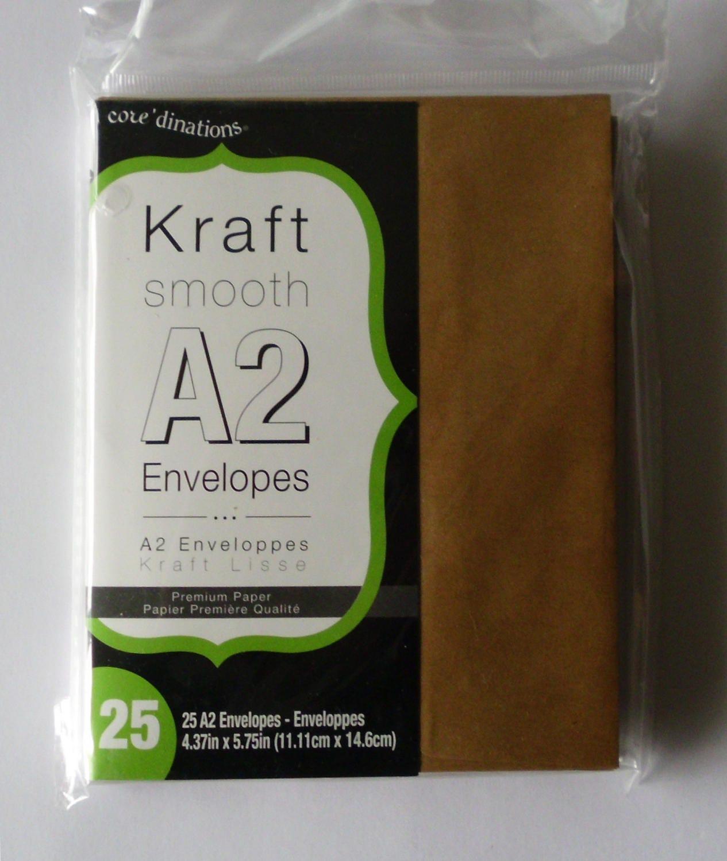 50 Kraft Envelopes A2, Coredinations Kraft Smooth A2 Envelopes ...