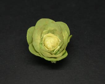 Single Flat Lead Cabbage ~ Dolls House Miniature ~ Miniature Food