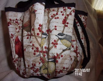 Assorted  Birds  Cloth Bingo Bag