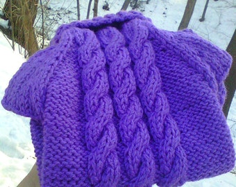 Dog sweater, in lilac, light purple colour, Soft and cozy Small, Hand Knit Pullover, S, XS size