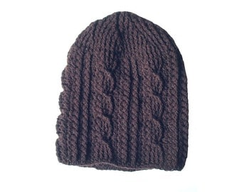 beanie slouchy wool hat tam dreadlocks hat dread tam