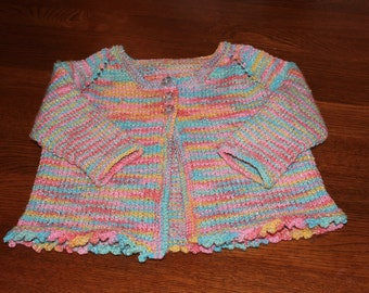 Hand Knit Baby Sweater - Knit Baby Sweater - Baby Sweater - Baby Cardigan - Knit Baby Cardigan - Hand Knit Baby Clothes - Knit Baby Clothes