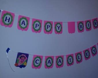 Dora Birthday Banner. Dora Birthday Decorations. Dora the Explorer Birthday