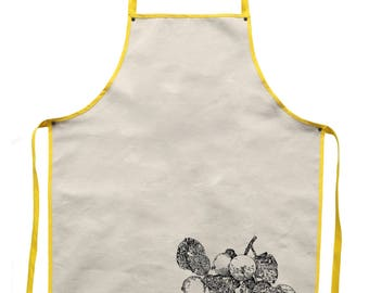 Apple tree branch - handcrafted natural cotton kitchen apron